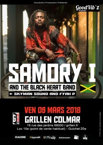 Samory I and The Black Heart Band - Fyah P and Skyman Sound au Grillen de Colmar